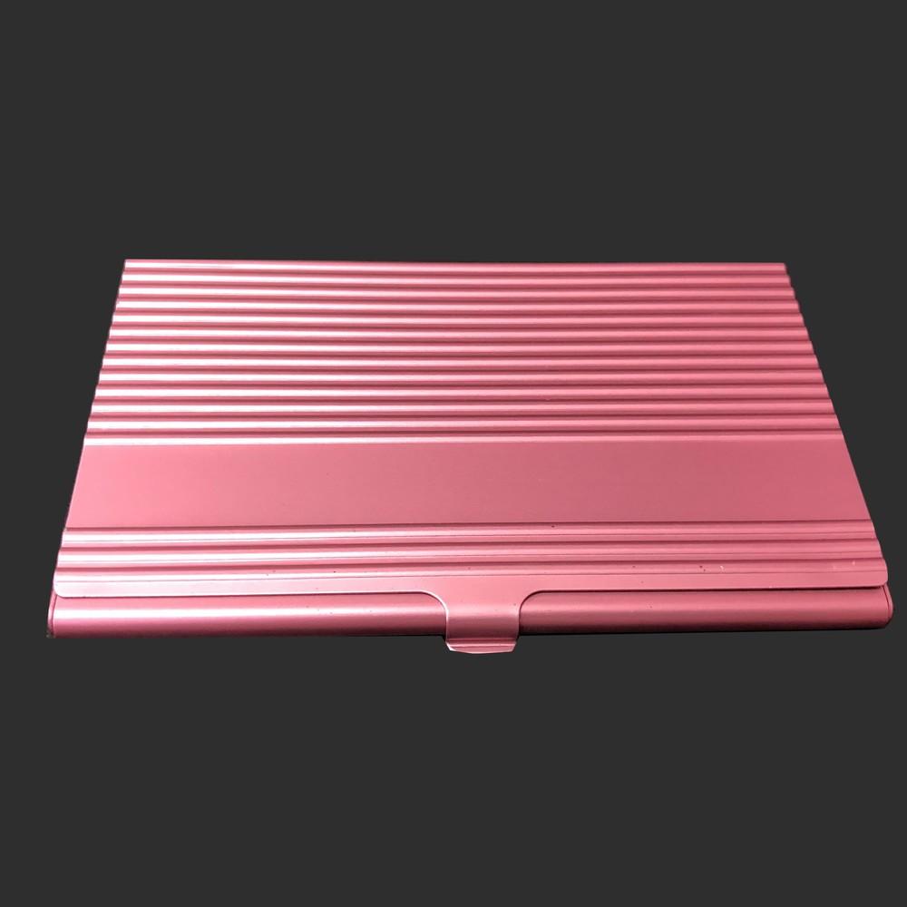 Stripe metal rose red card holder