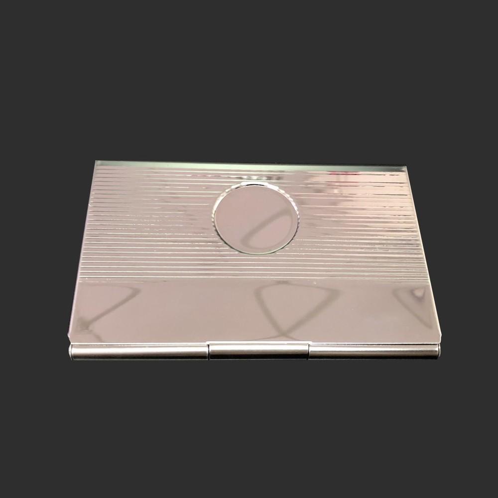 Portable stripe circle Stainless iron card holder