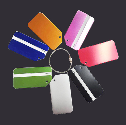colorful Metal Luggage Tag good quality