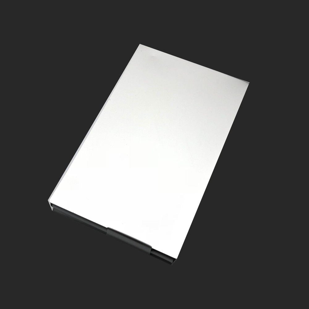 Thick aluminum metal card holder