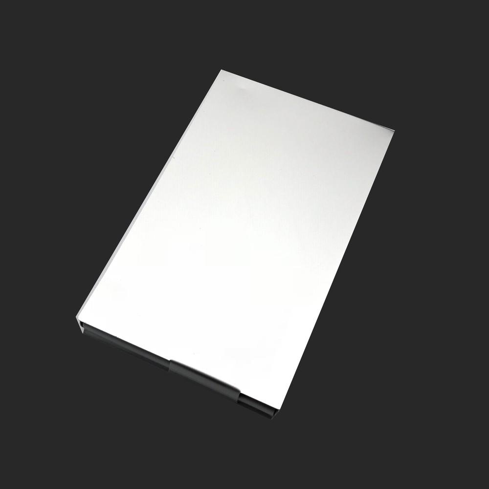 Thick aluminum metal card holder