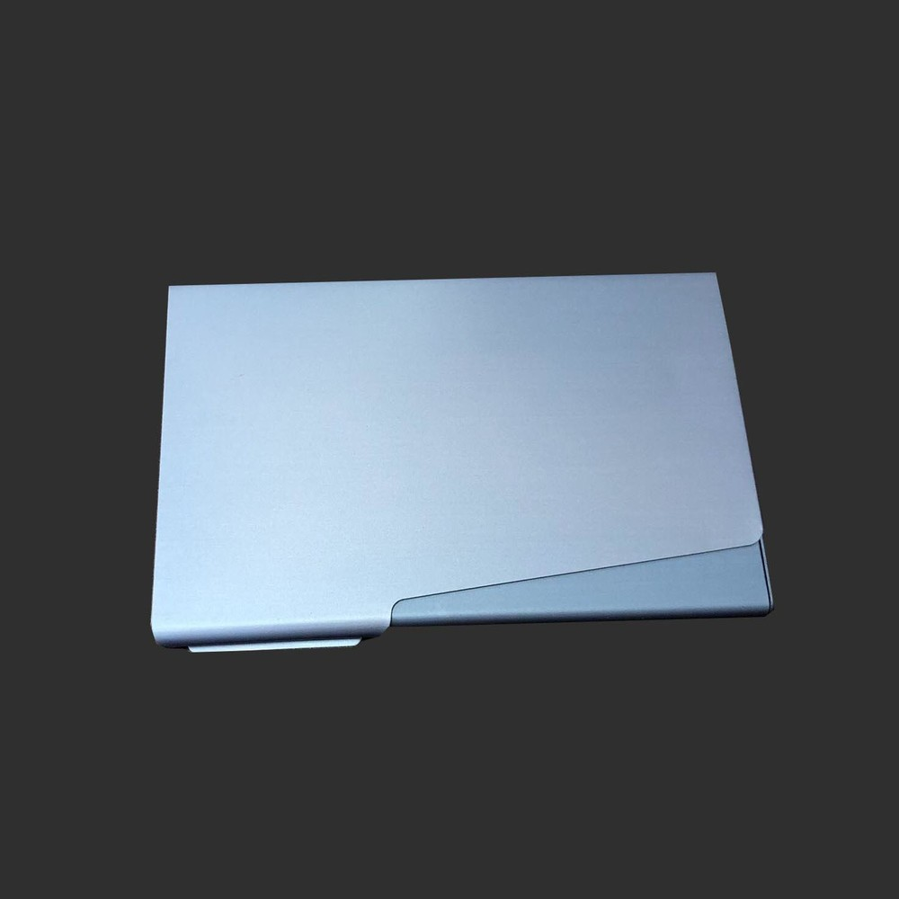 Aluminum Metal blue business card holder