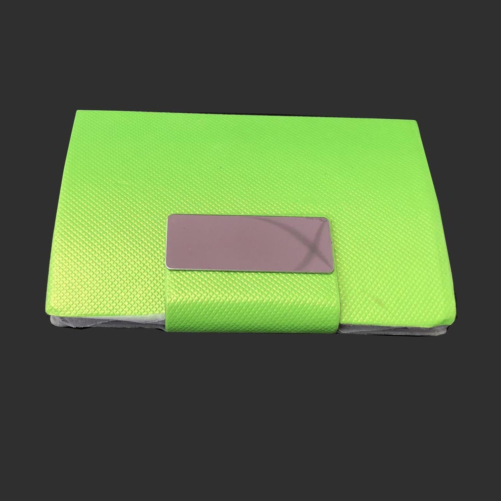 PU stainless iron silver green metal card box