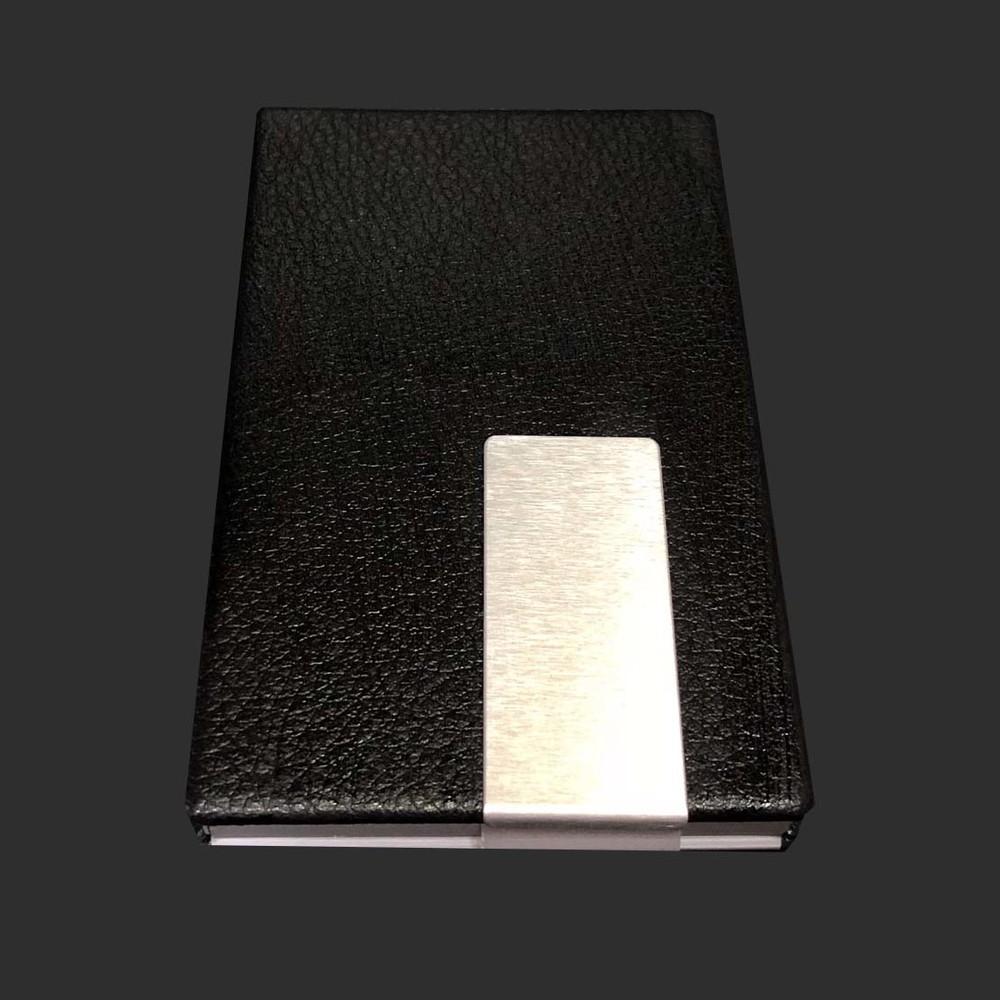 Fancy waterproof business id card wallet holder metal case