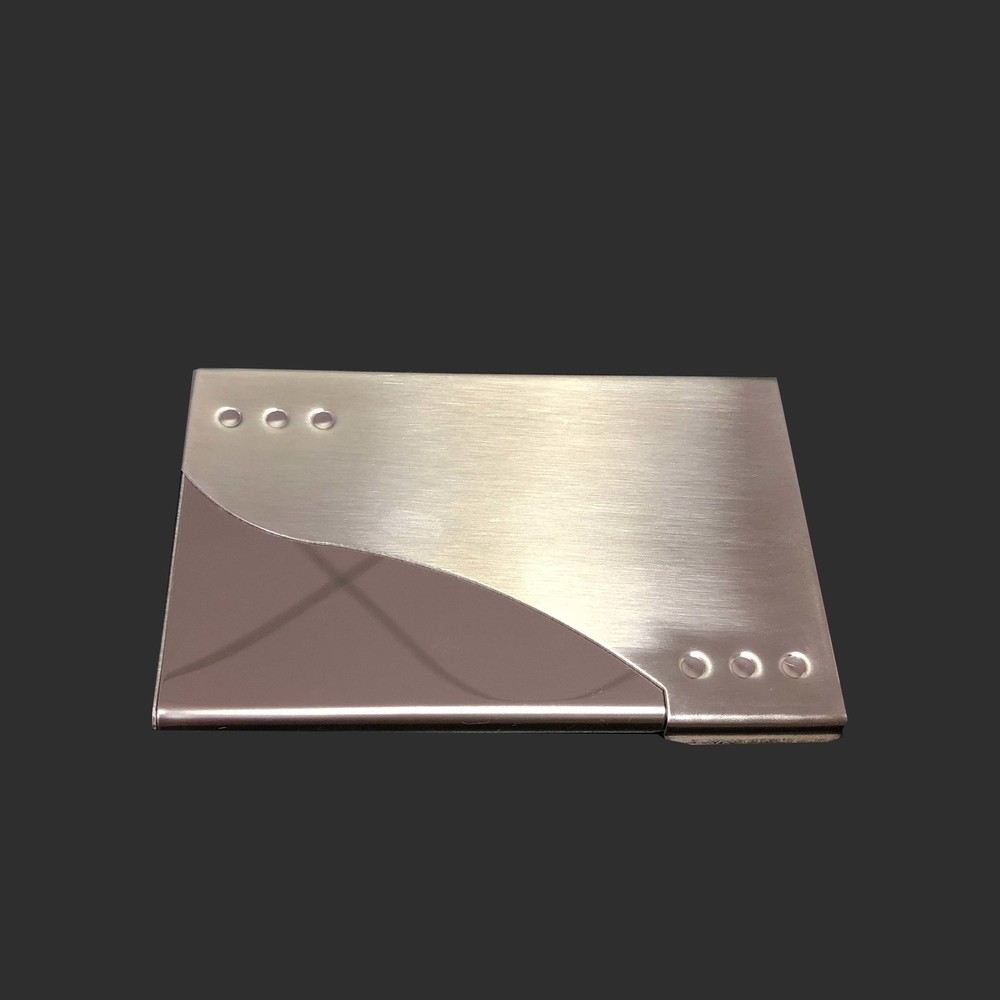 High-grade stainless steel business card case (can customized logo)