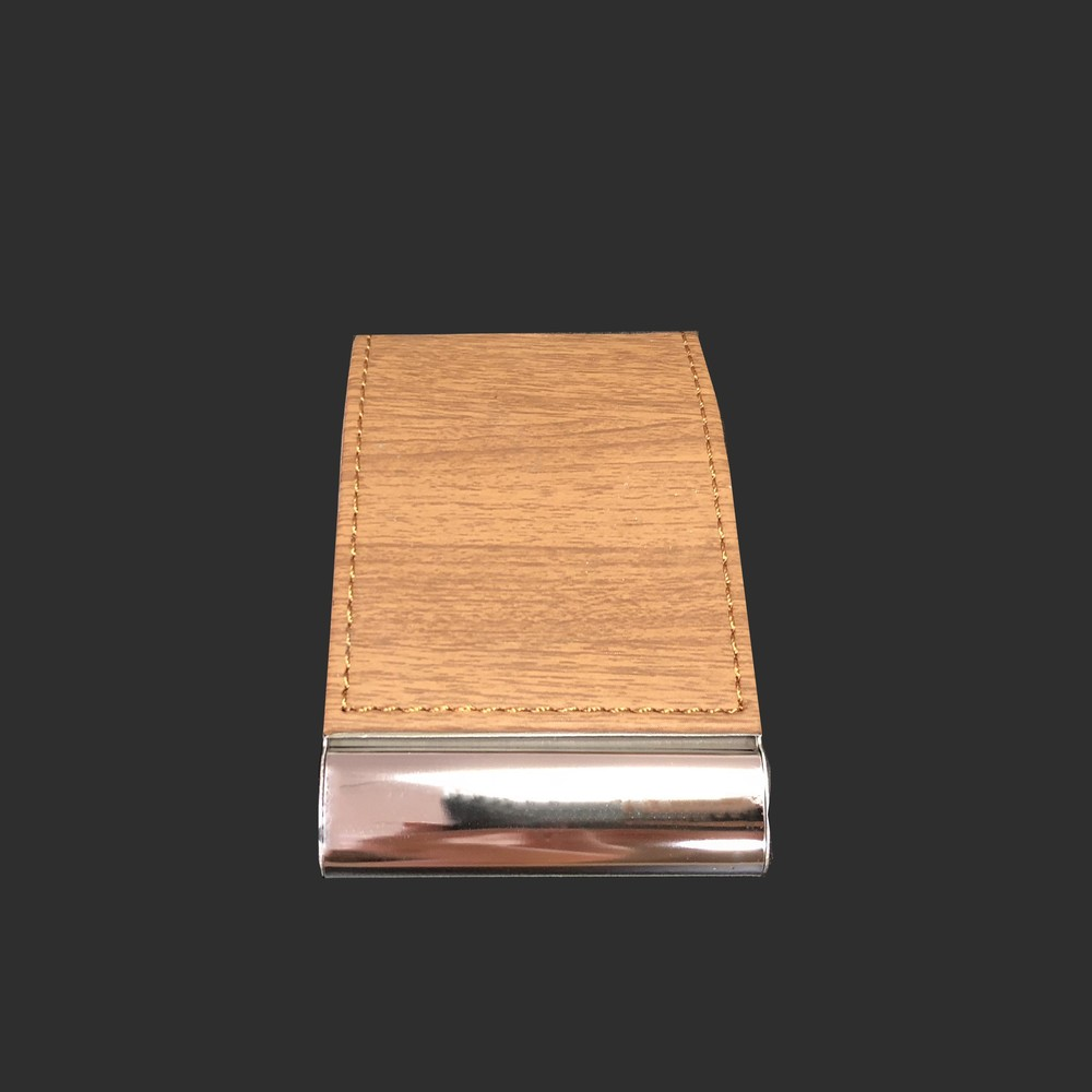 PU Leather Metal Stainless Steel  Business Name Card Case