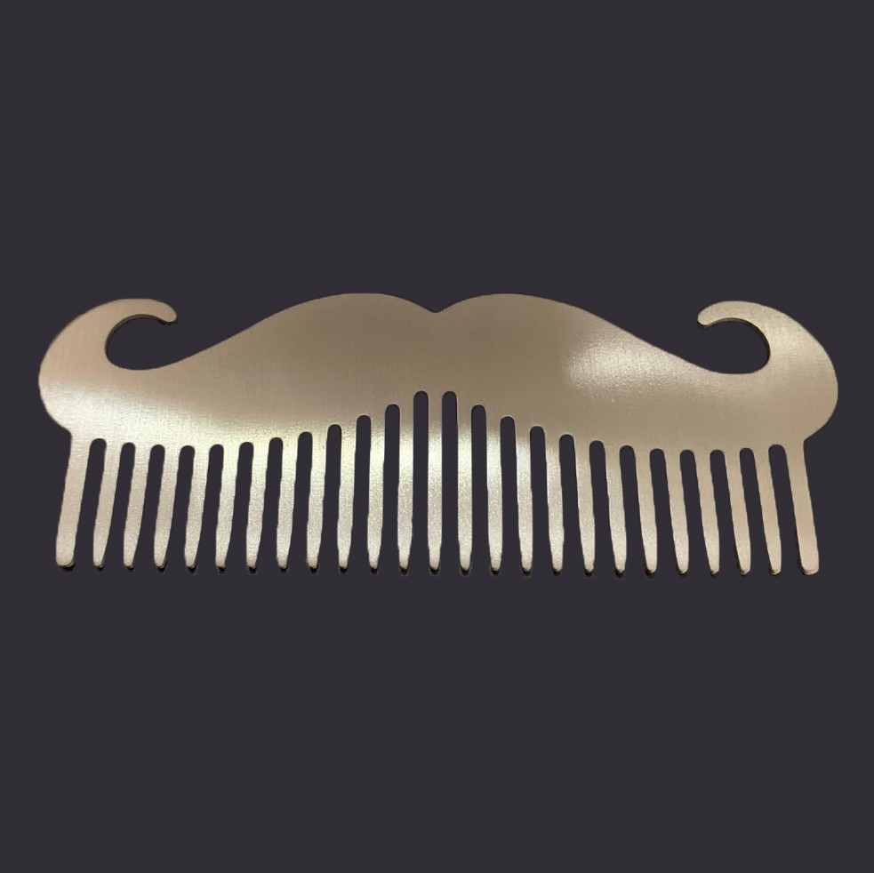 stainless steal beard comb