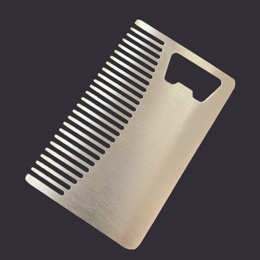 stainless steal comb with bottle opener