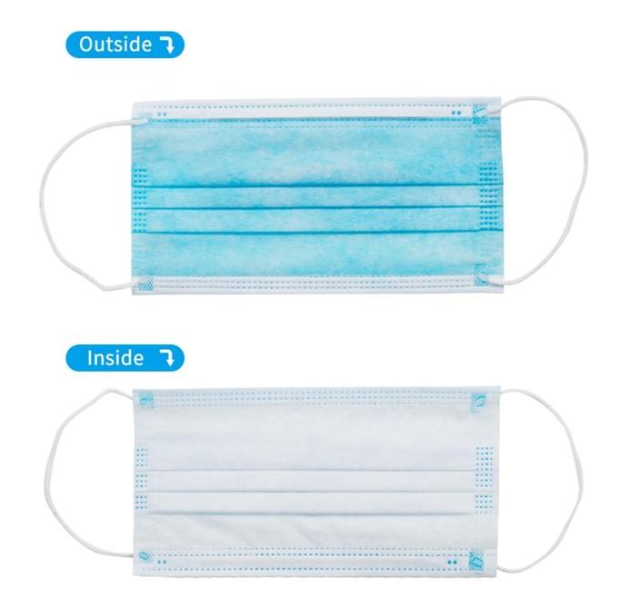 Disposable 3-Ply Non-Woven surgical FaceMask