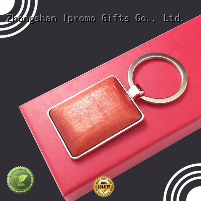 Ipromo useful wooden keychain online widely-use for wedding