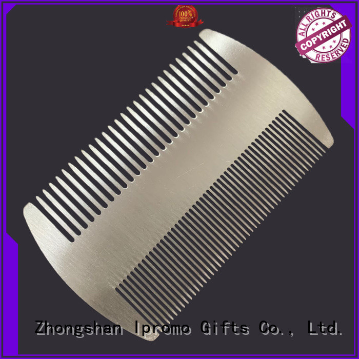 Ipromo durable metal wide tooth comb scientificly for promotion