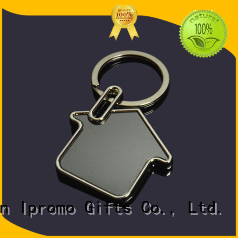Ipromo useful blank leather keychains for wholesale for memento