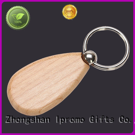 Ipromo useful wooden keychain online manufacturers for souvenir