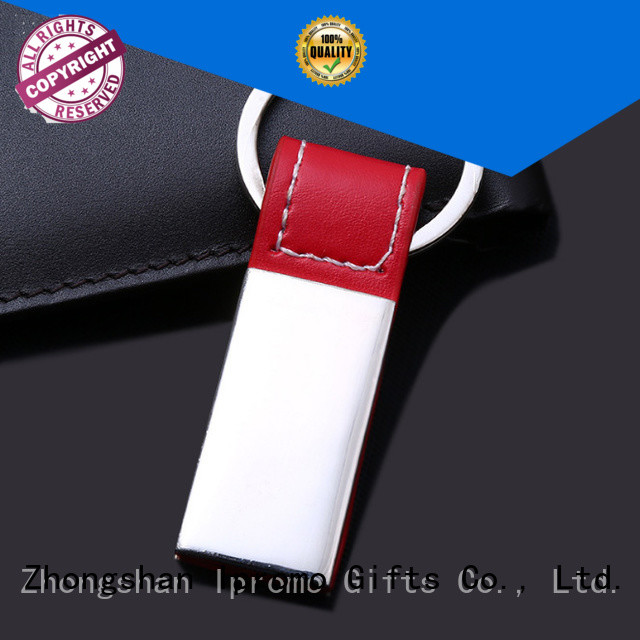 Ipromo custom leather keychains various sizes for party