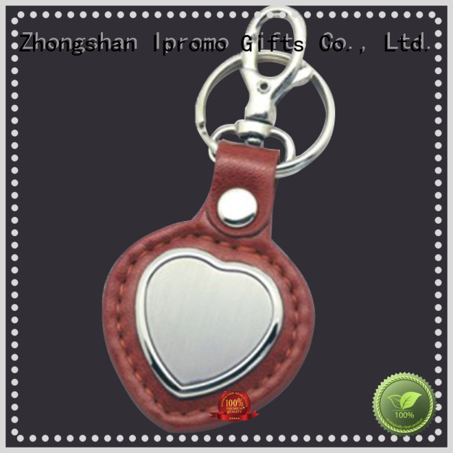 Ipromo leather keychain online long-term-use for memento
