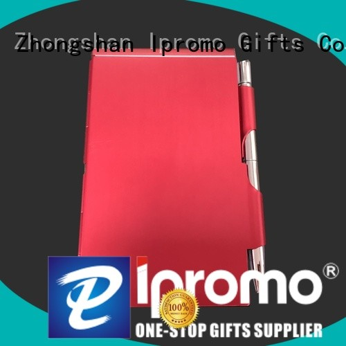 Ipromo metal notepad holder free design for memento