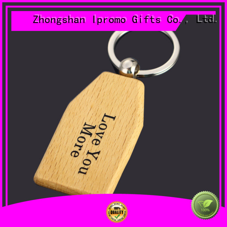 Ipromo personalised wooden keychain widely-use for event